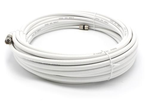 75' feet white RG6 coax, coaxial cable with two male Fpin