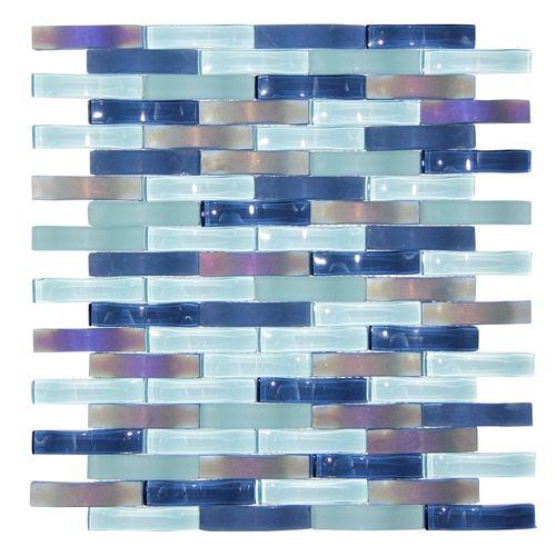 Ripple Stream Blue Wavy Mosaic Glass Tile Trendy Bathroom Tiles Glass Mosaic Tiles Glass Backsplash Kitchen