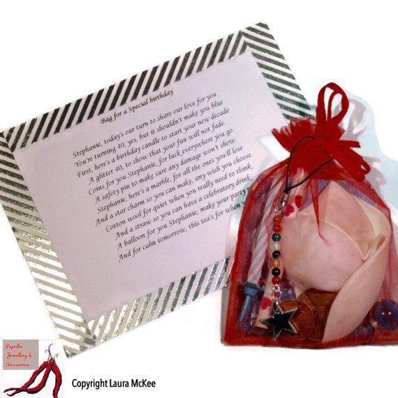 Custom Birthday Gift Bag Personalised By ThePaprikaJewellery