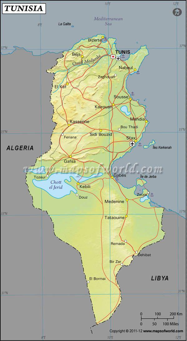 Tunisia latitude and longitude map maps and pinterest tunisia latitude and longitude map gumiabroncs Gallery