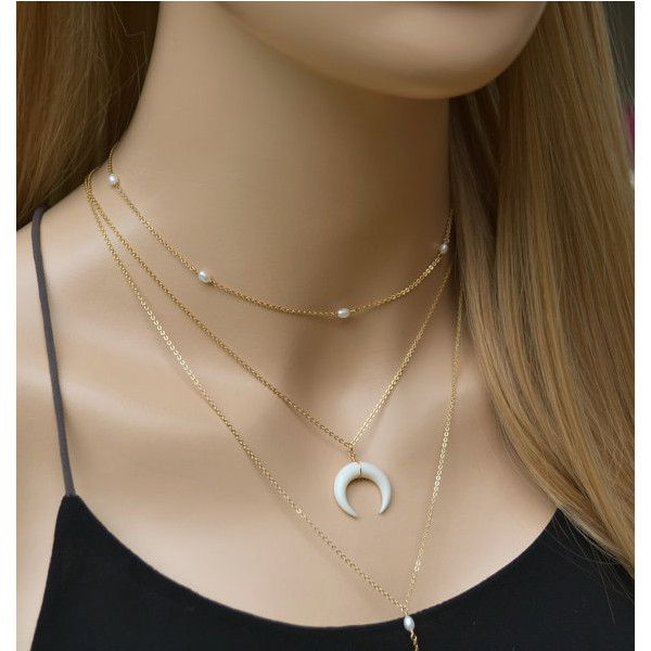 Small White Double Horn Necklace - Pesquisa Google ❤ liked on Polyvore featuring jewelry, necklaces, white horn necklace, white necklace, white jewelry, horn jewelry and horn necklace