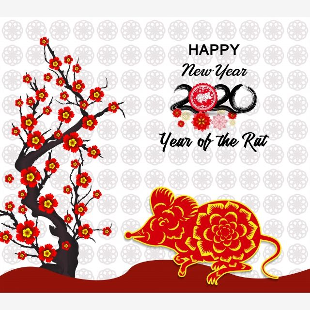 Chinese New Year 2020 Lunar New Year With Cherry Blossom And