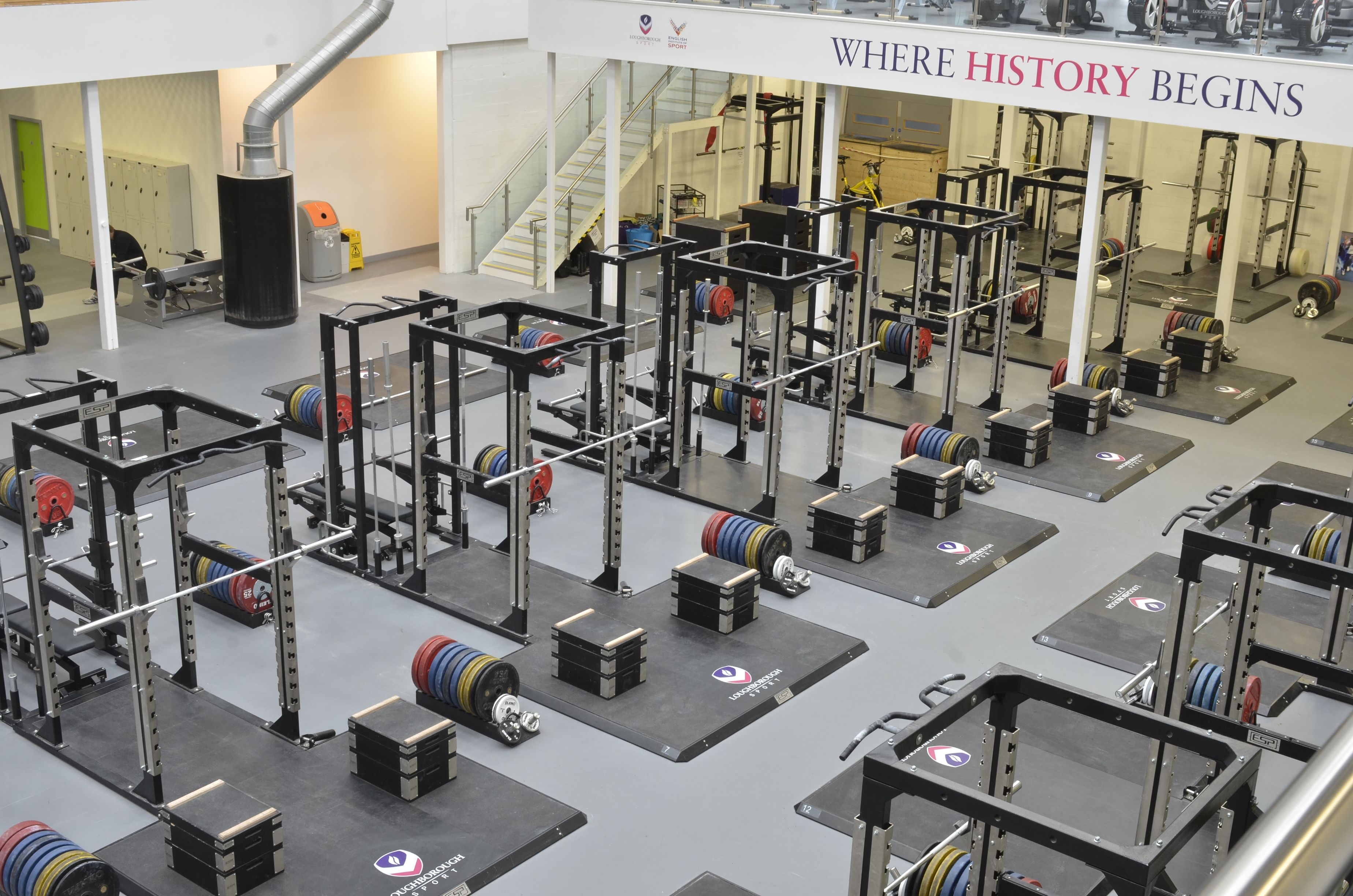 Virginia Tech New Olympic Weight Room