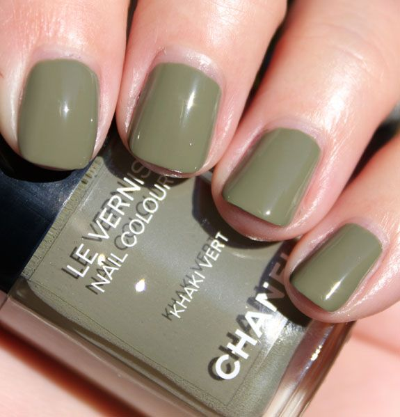 Chanel Khaki Vert Nail colour | Get ur hair did and ur face on ...