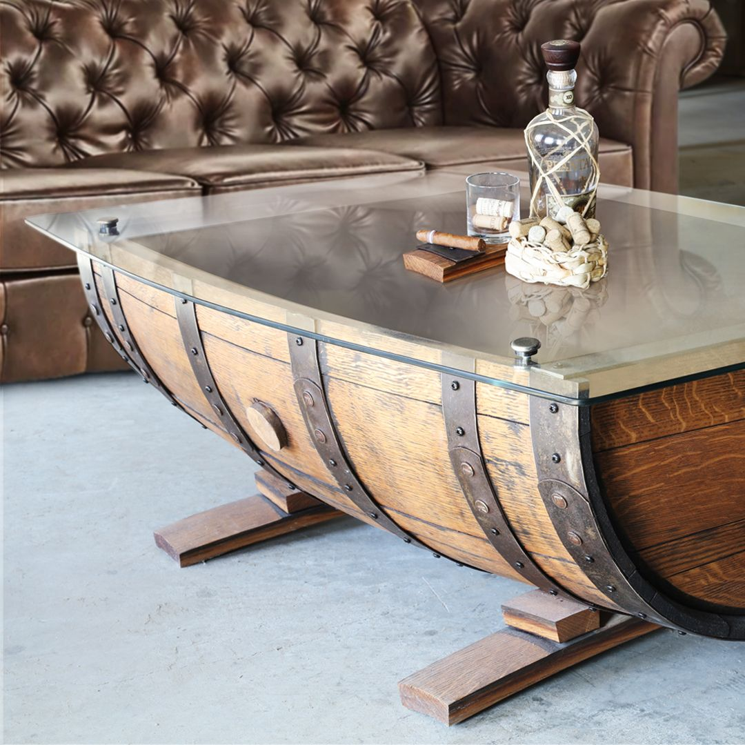 Handcrafted Whiskey Amp Wine Barrel Bars In 2020 Whiskey Barrel Table Whiskey Barrel Furniture