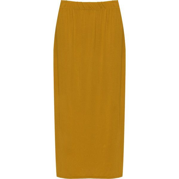 79fdfe6fde4d9 WearAll Plus Size Plain Maxi Skirt (70 PEN) ❤ liked on Polyvore featuring  skirts
