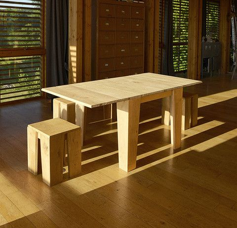 Table B U D Mobilier Design Bois Chene Massif Meuble Chene Mobilier De Salon Mobilier Jardin