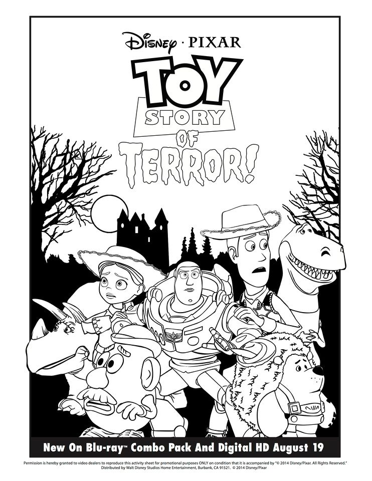 Toy Story Of Terror Toy Story Of Terror Coloring Page Toy Story Coloring Pages Coloring Pages Toy Story