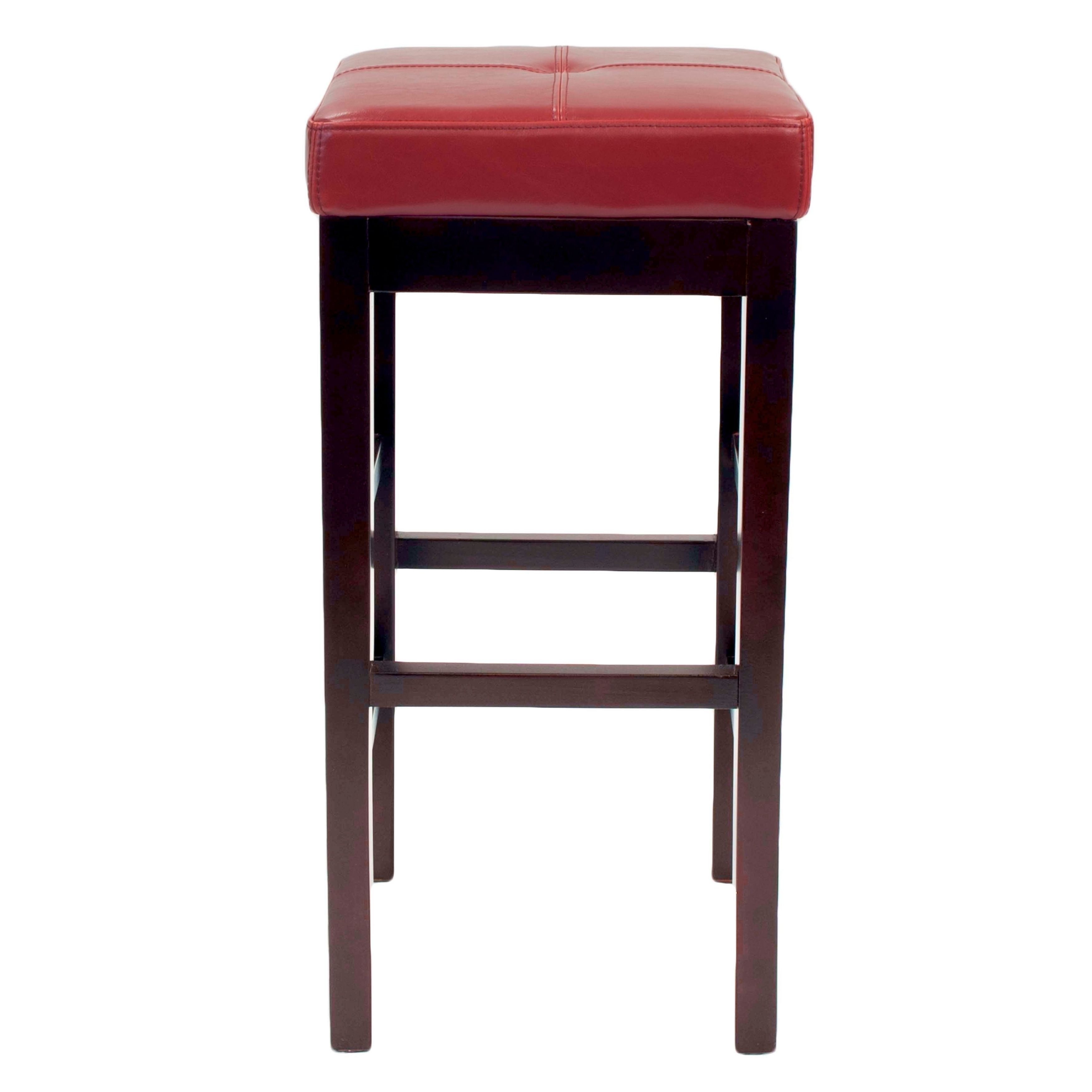 Outstanding Copper Grove Pennyrile Backless Leather Counter Stool Red Gmtry Best Dining Table And Chair Ideas Images Gmtryco
