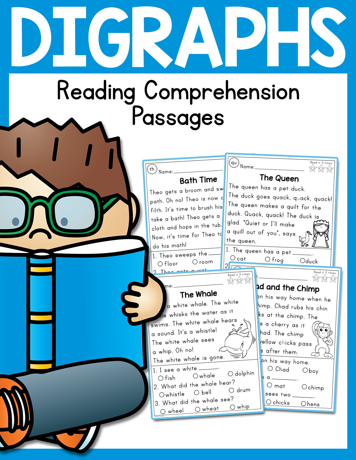Digraphs Reading Comprehension Passages