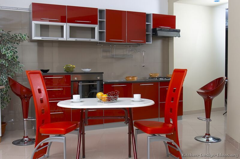 Kitchen Idea Of The Day Modern Red Kitchens Black Kitchen Decor Red Kitchen Tiny Kitchen Design