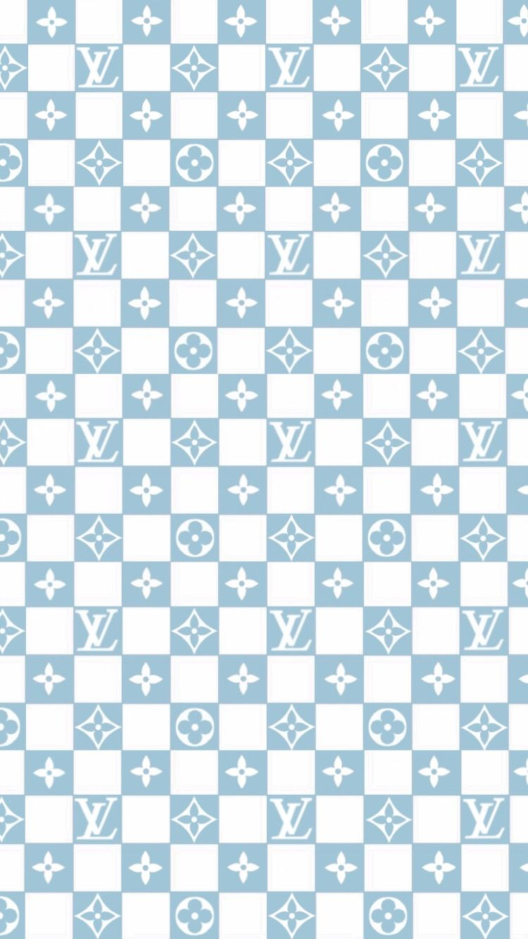 louis vuitton baby blue checkered vans wallpaper (With