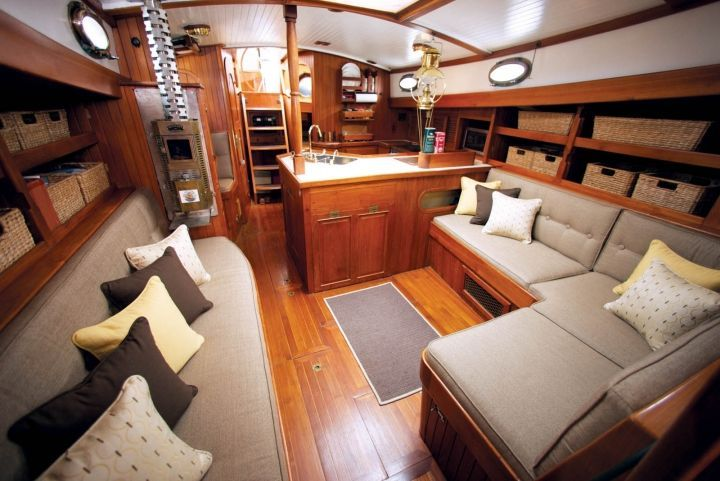 Segelyachten innen  Sailboat Interior | Galetea interior redo for SunbrellaBoats ...