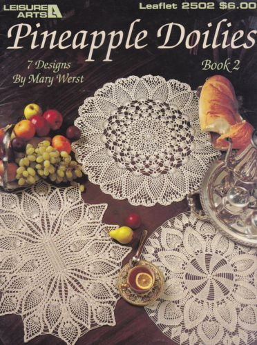 Pineapple-Doilies-Book-2-Leisure-Arts-Crochet-Pattern-Booklet-2502 ...
