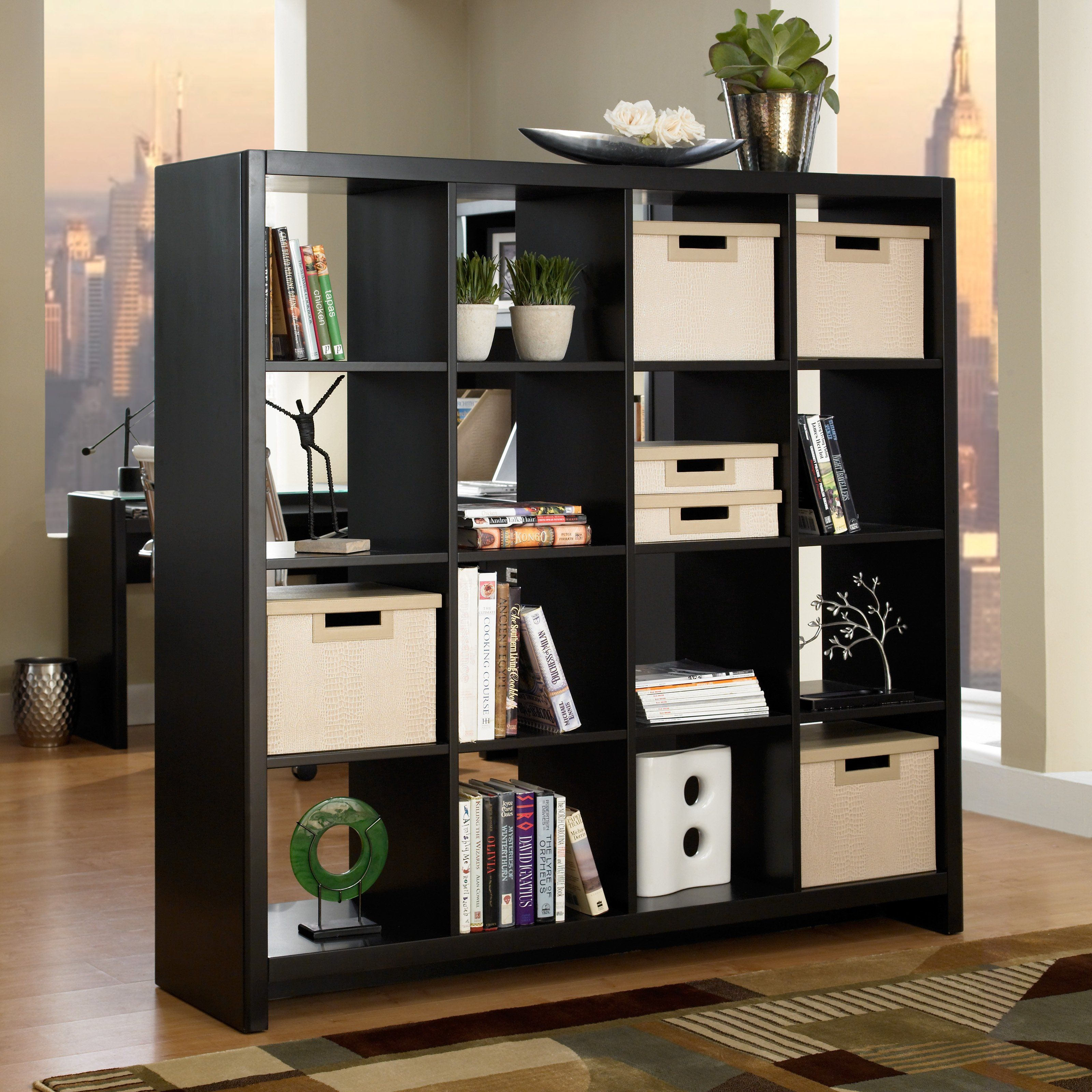 Lowest price online on all Kathy Ireland by Bush New York Skyline Cube  Divider in Modern Mocha -