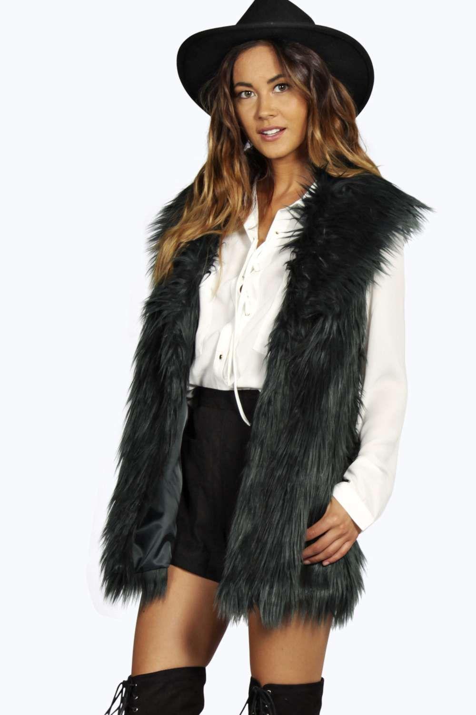 Emily Shawl Collar Longline Faux Fur Gilet // £35 | My Style ...