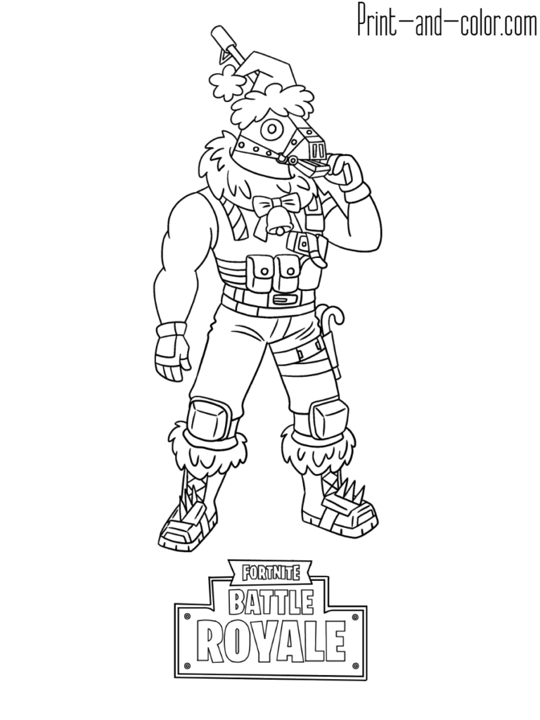 Fortnite Battle Royale Coloring Page Sgtwinter Skin Disegni Da