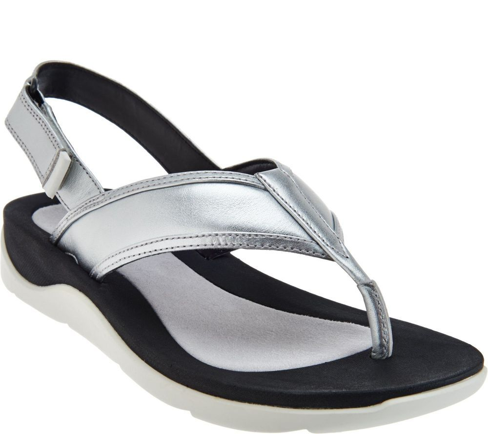 Womens Sandals Clarks Caval Kora Silver Leather