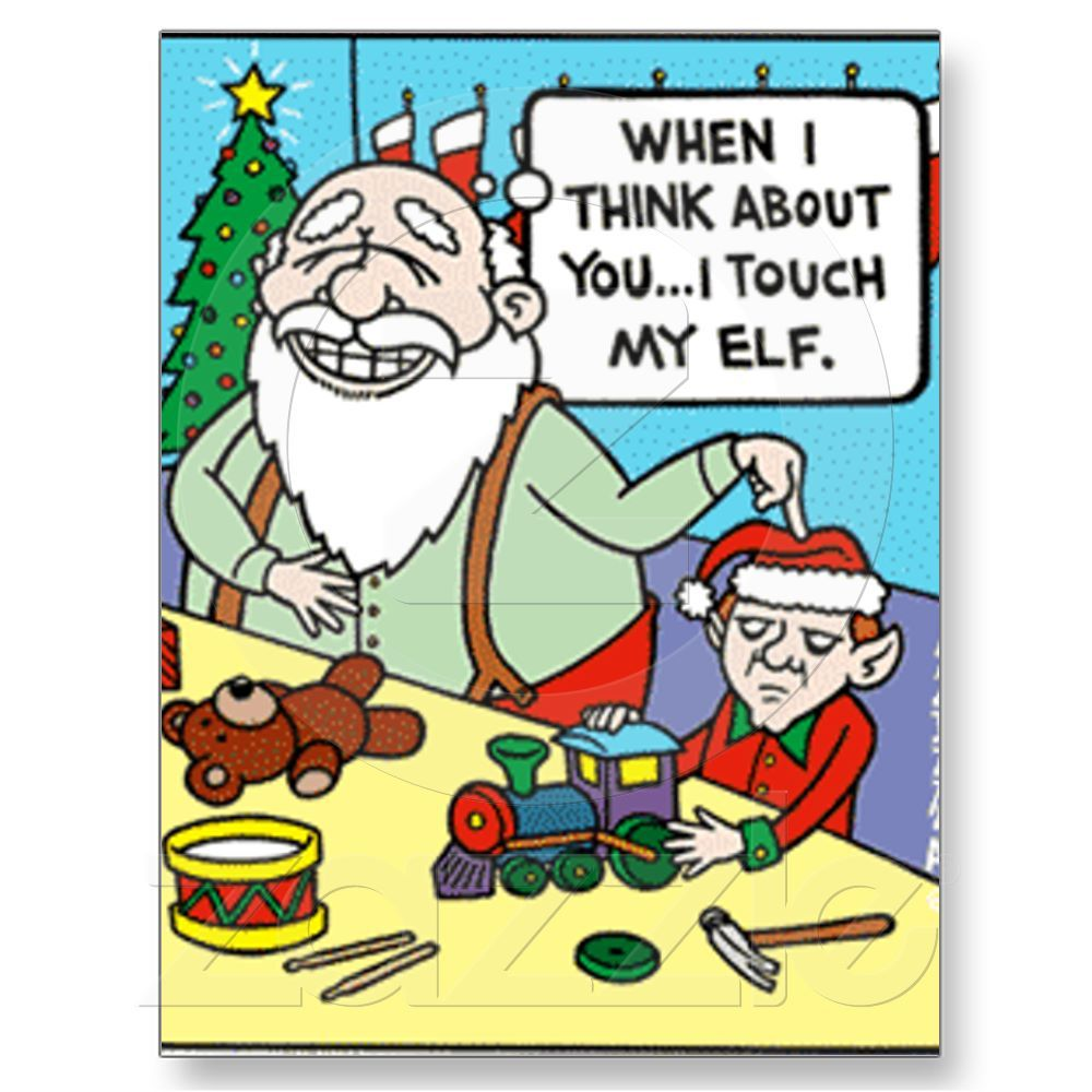 Touch My Elf Holiday Postcard