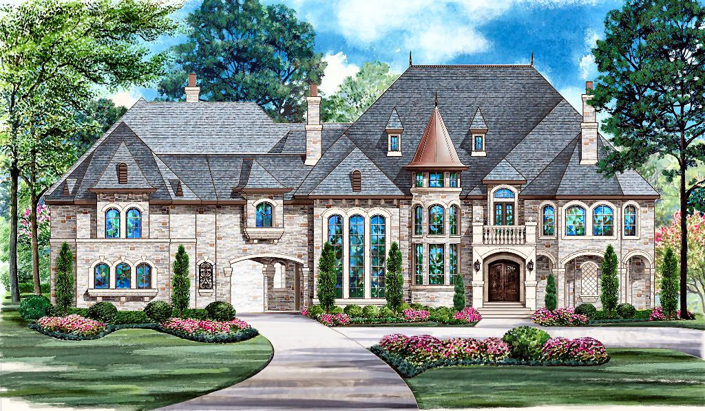 French country estate house plans dallasdesigngroup home for House turret designs