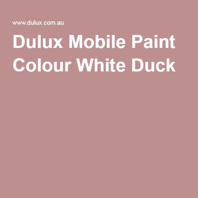 Dulux Mobile Paint Colour White Duck (Equilvelent of Benjamin Moore ...
