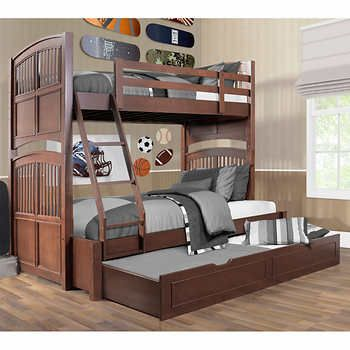 Best Sheldon Twin Over Double Bunkbed With Trundle 1300 400 x 300