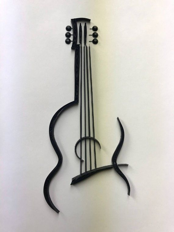 Quilling, quilled art, music lover, guitar