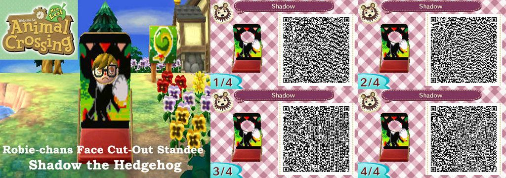 AC New Leaf,Face CutOut Stand,Shadow the Hedgehog by Robie