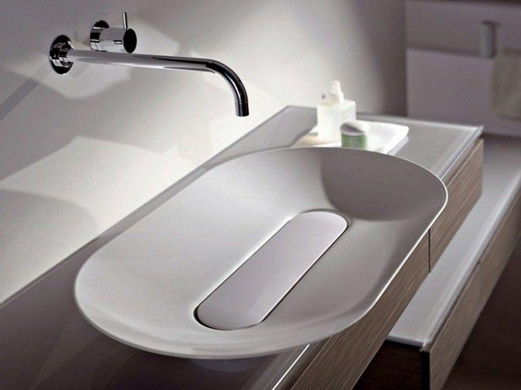 Lavabos de diseño moderno - 25 modelos de lujo | Corian, Lofts and Bath