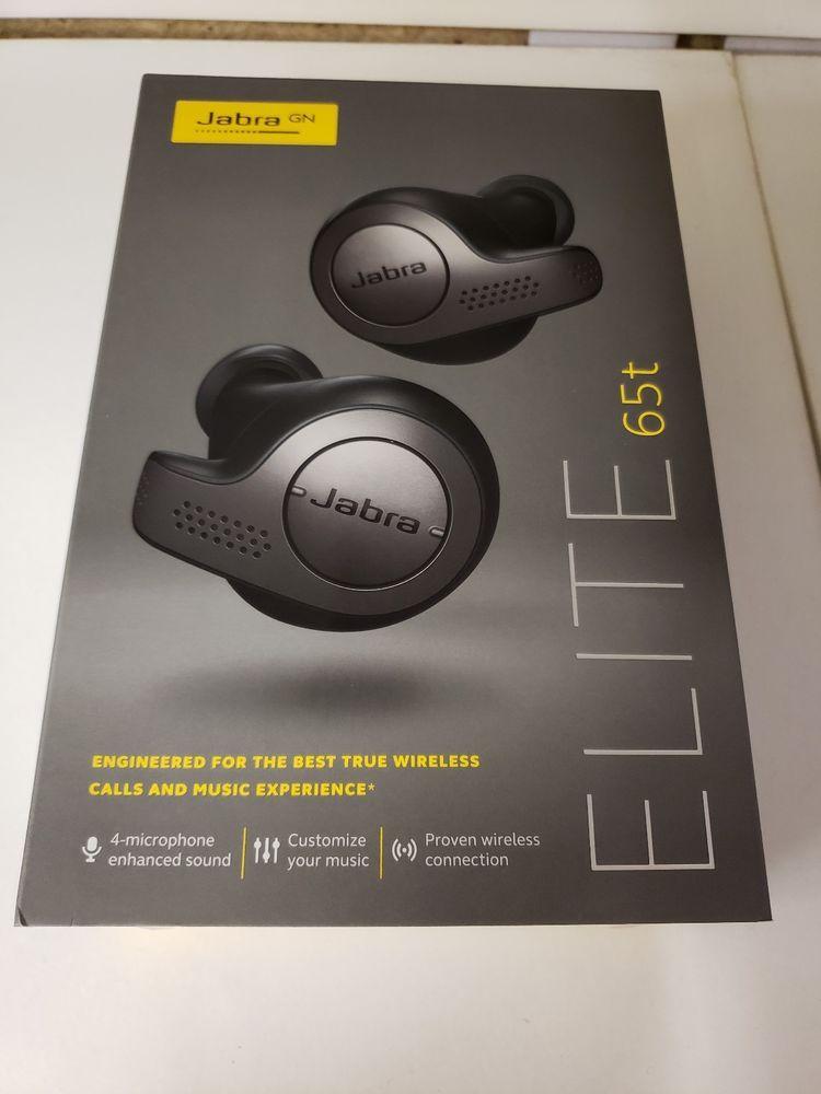 44d137aa840 eBay #Sponsored Jabra Elite 65t True Wireless Bluetooth In-Ear Headphones  (Titanium Black