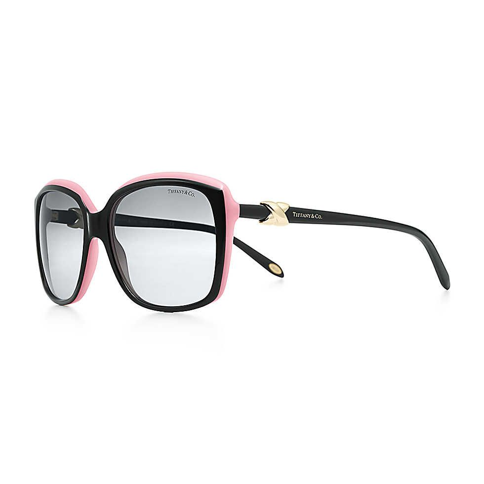 3256db9067f Tiffany Signature™ square sunglasses in pink and black acetate.