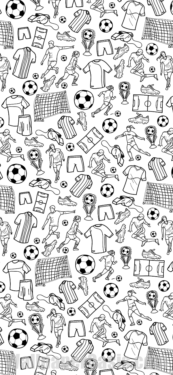 Free Black And White Soccer Doodle Iphone Wallpaper This Design Is Available For Football Wallpaper Iphone Iphone Wallpaper Sports Watercolor Wallpaper Iphone