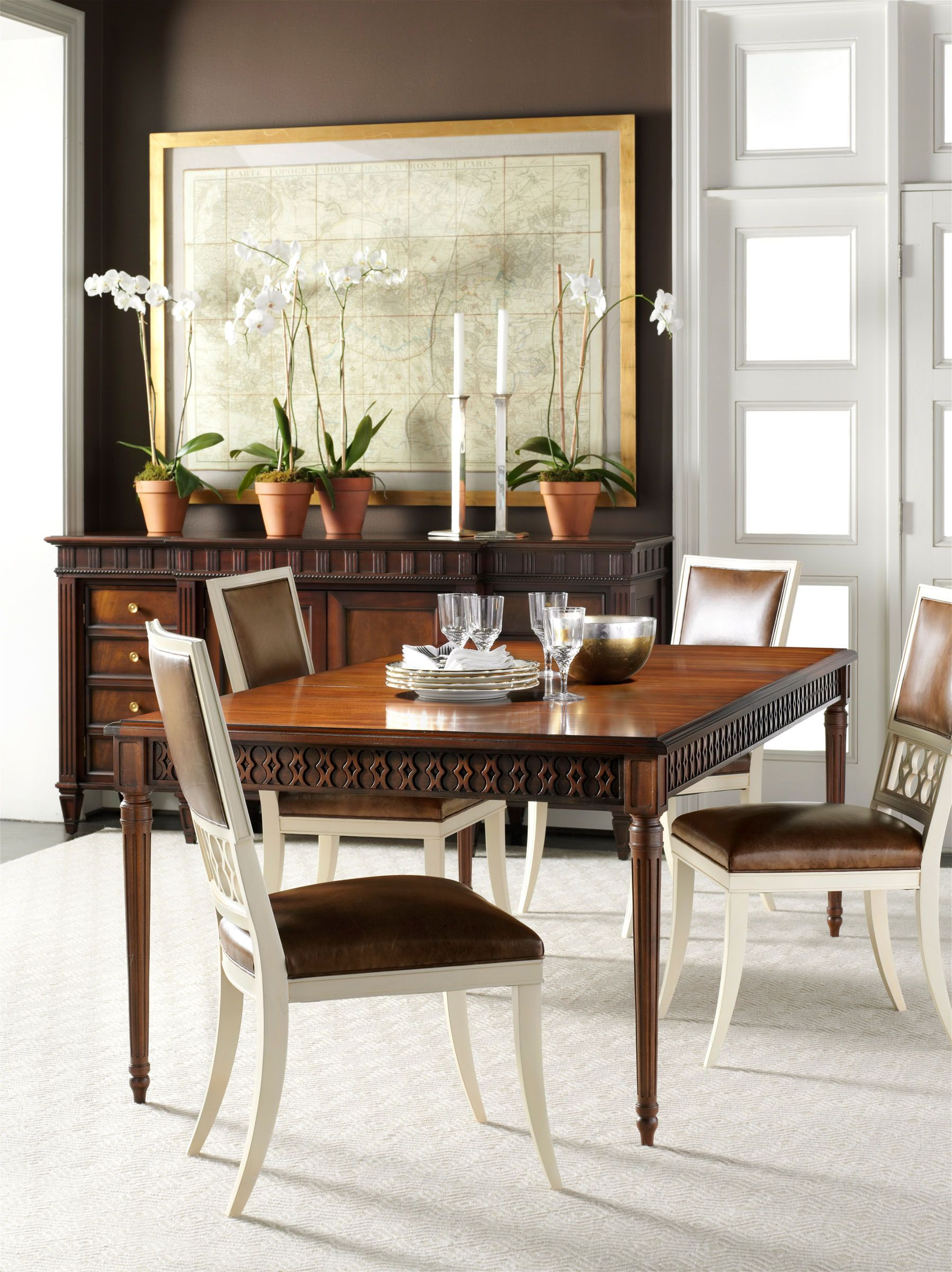 Hickory Chair Classic dining room, Dining room design