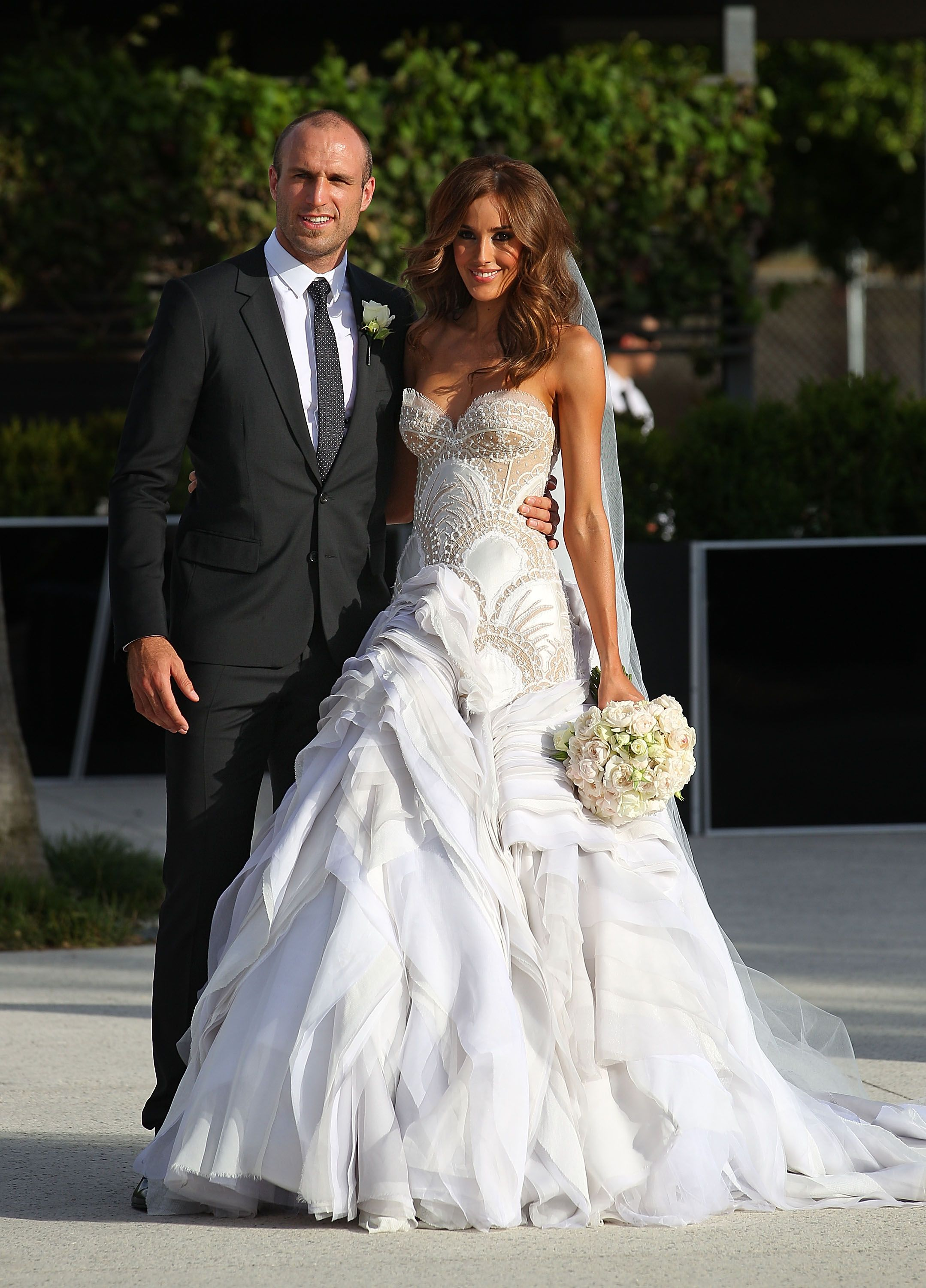 Rebecca Twigley and Chris Judd | Wedding dress, Weddings and Perfect ...