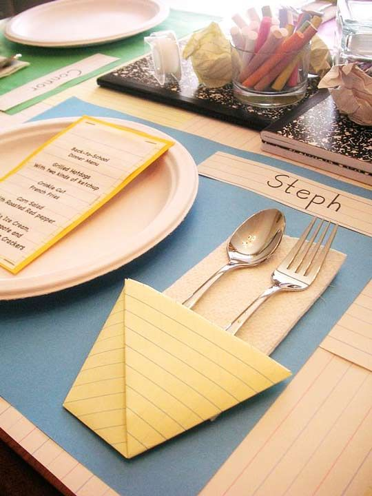 Back to school dinner party