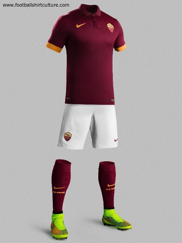 AS Roma 14/15 Nike Home Football Shirt | Calcio, Maglie, Maglia