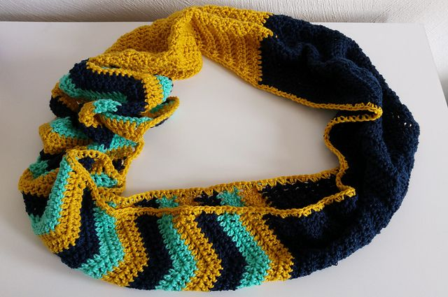 Ravelry: Project Gallery for Chevron Infinity Scarf pattern by ...