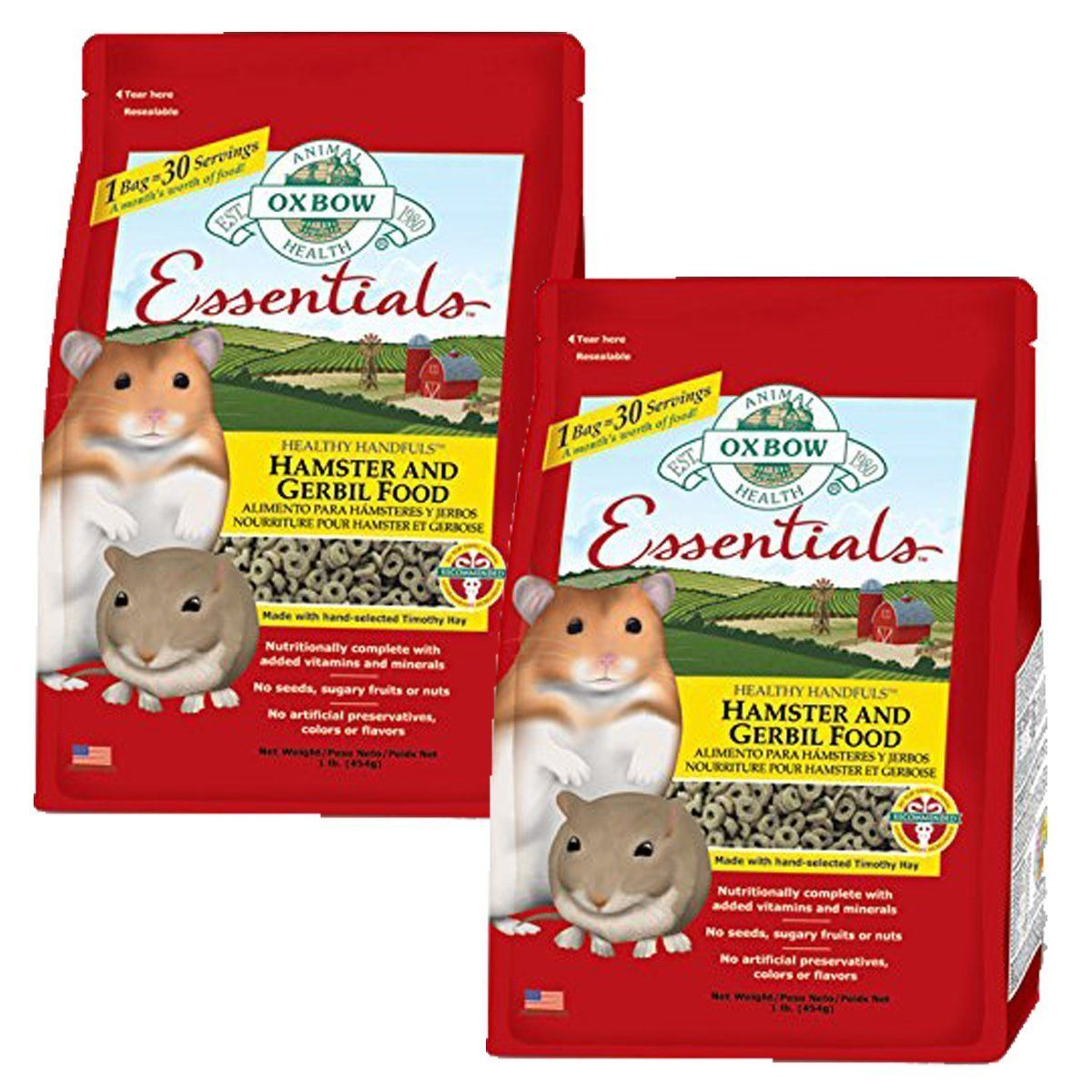 Oxbow Animal Health Hamster and Gerbil Fortified Food | Pet health ...