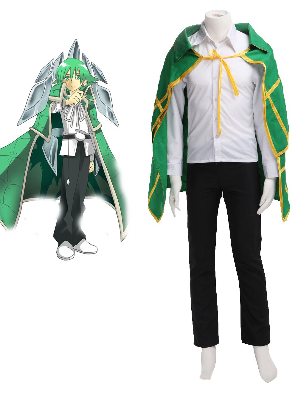 Shaman King Lyserg Diethel 3 piece Cosplay Costume