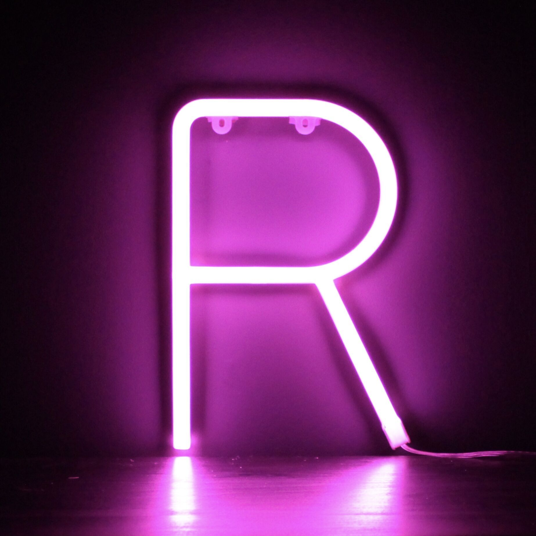 Neon Letter R Pink in 2020 Aesthetic letters, Pink