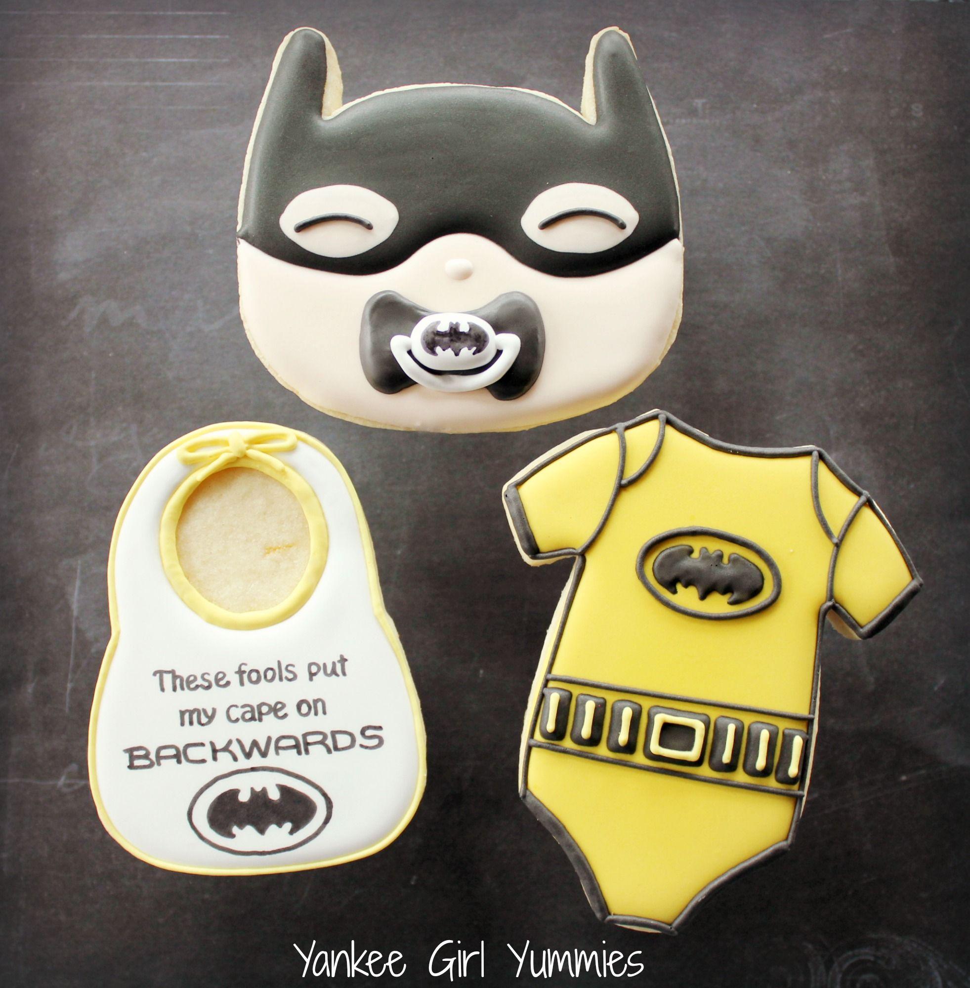 Baby Batman Cookies. Superhero Cookies! Yankee Girl Yummies