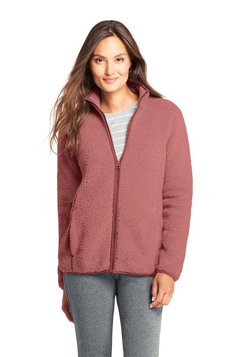 ef04cfd2354 Women's Petite Cozy Sherpa Fleece Jacket from Lands' End | Fashion ...