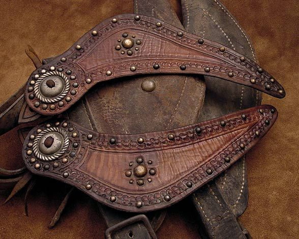 WESTERN SPUR STRAPS LEATHER HAND MADE ADJUSTABLE ADULT SIZE COWBOY RODEO COWGIRL