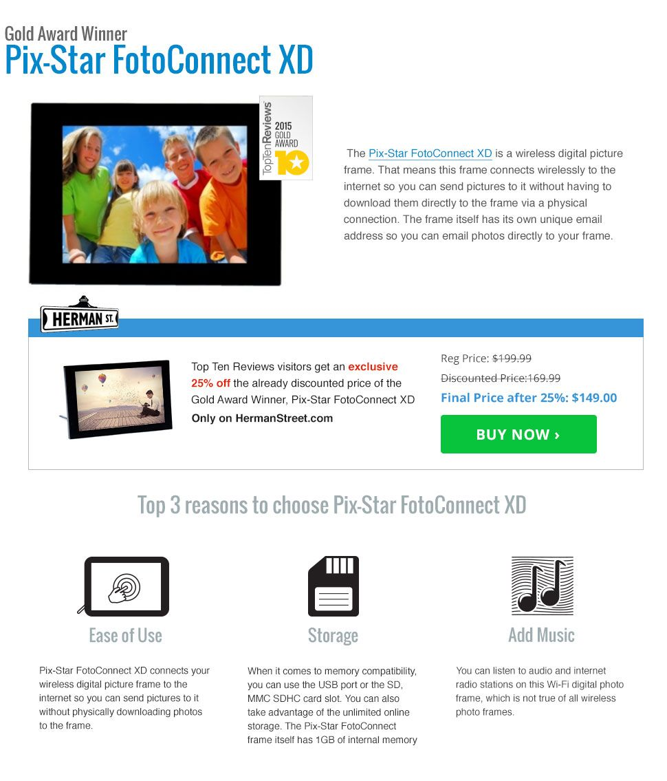 The Best Wifi Digital Picture Frames of 2015 | Top Ten Reviews ...
