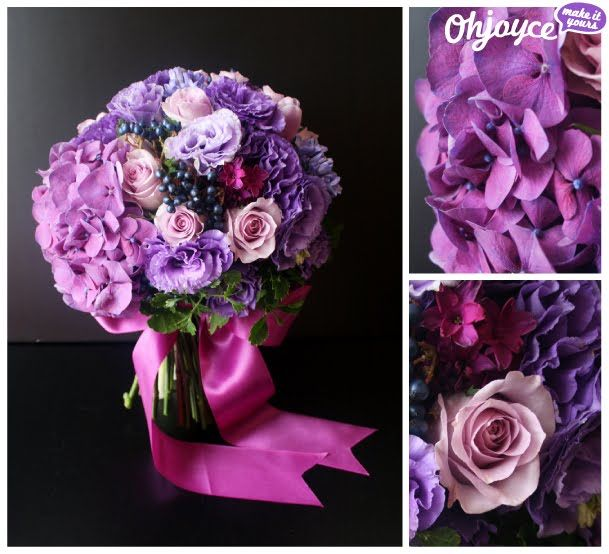 Oh Joyce! Purple bridal bouquet <3