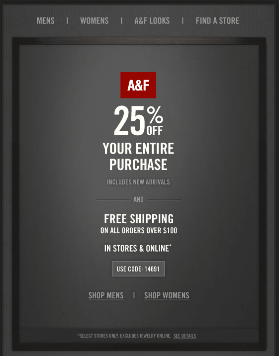 abercrombie online coupon codes
