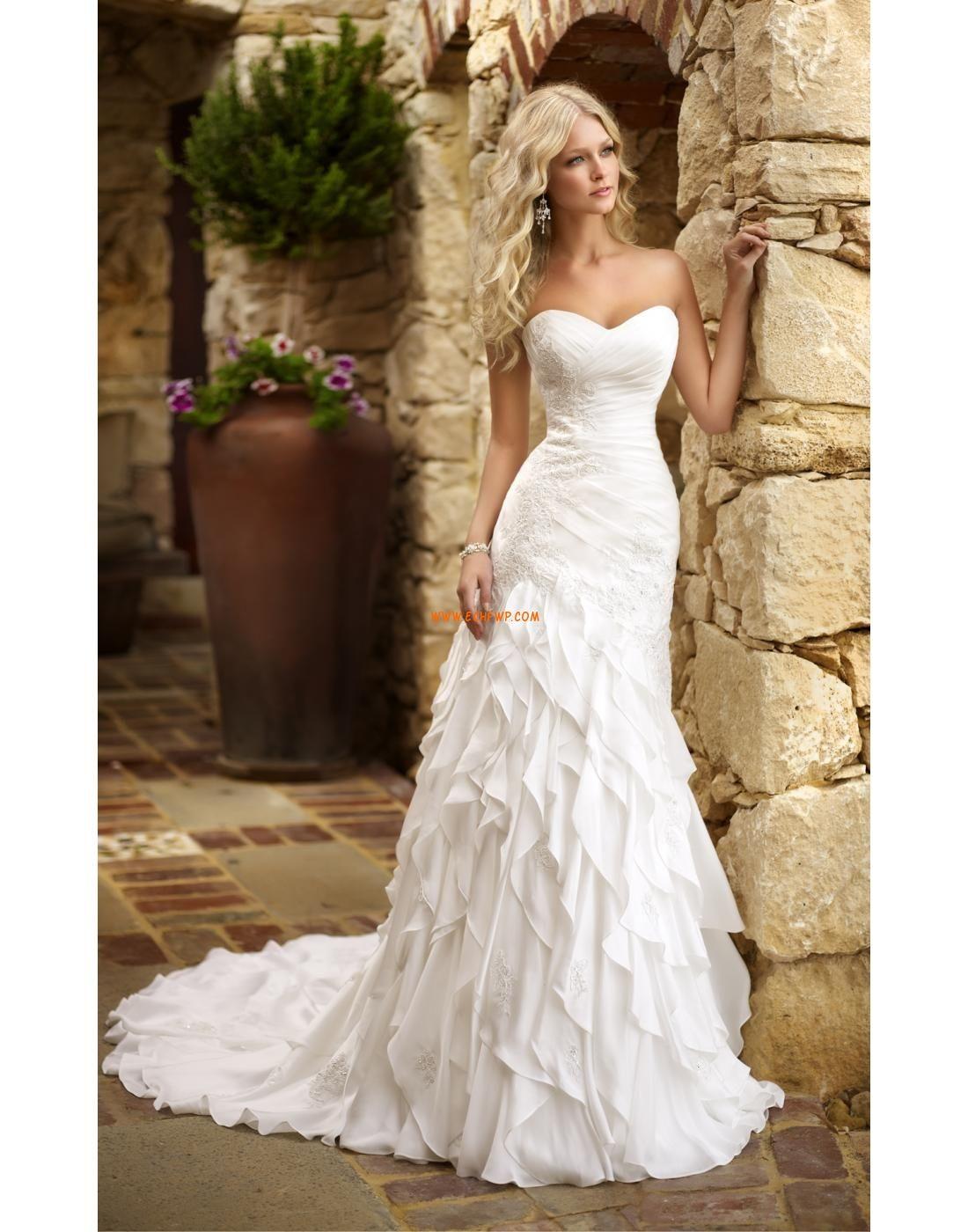 Sir ne satin brillant s duisant robes de mari e 2014 for Concepteurs de robe de mariage australien en ligne