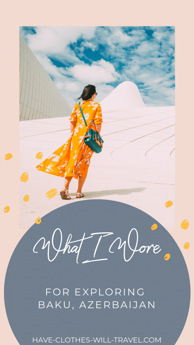 What I Wore to Explore Baku Azerbaijan Baku Azerbaijan  What I Wore  If youre wondering what to wear for a day of exploring in Baku as a woman  this post here to help