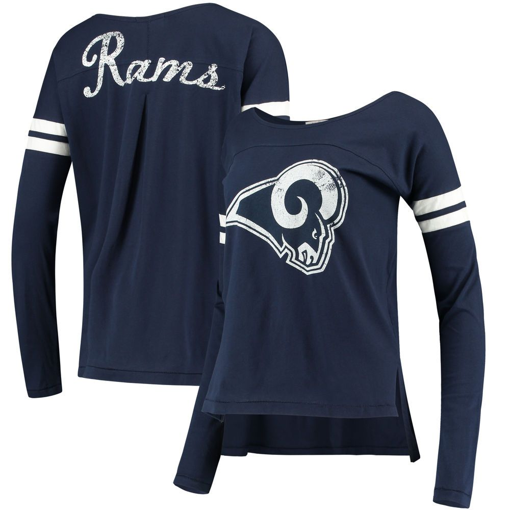 Women s Los Angeles Rams Touch by Alyssa Milano Navy Free Agent Long Sleeve  T-Shirt c0336dd436