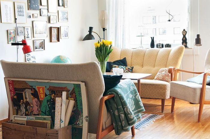 shabby chic einrichtung, wohnzimmer in pastellfarben, sofas in beige - einrichtungsideen wohnzimmer beige
